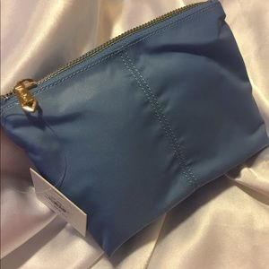 New Neiman Marcus Periwinkle Zipper Cosmetic Bag